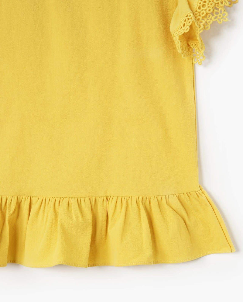 [Out of Stock] Ruffle Sleeve Easy Dress