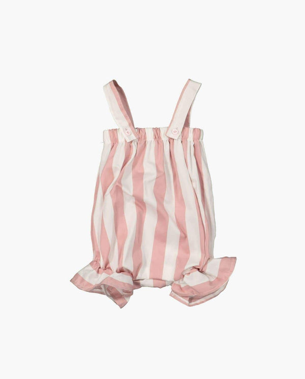 Sleeveless Vertical Stripe Rompers
