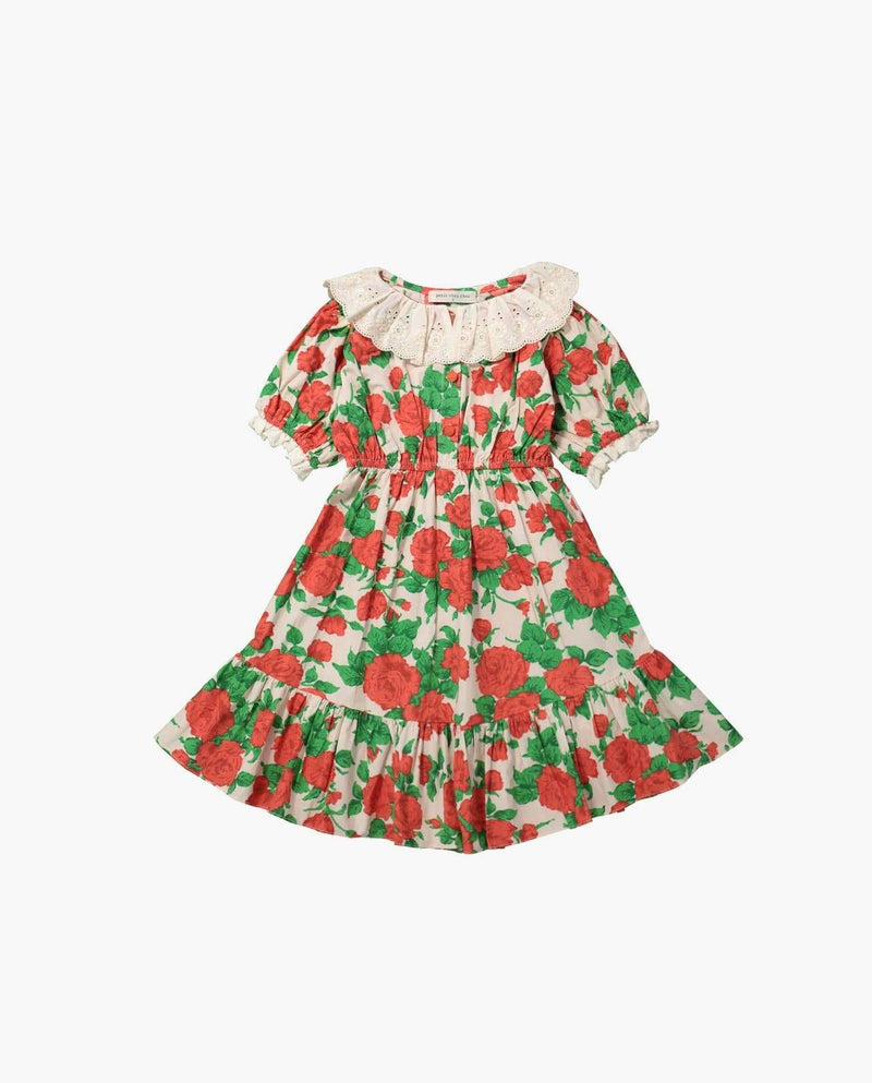 [Out of Stock] Vintage Lace Collar Floral Print Dress