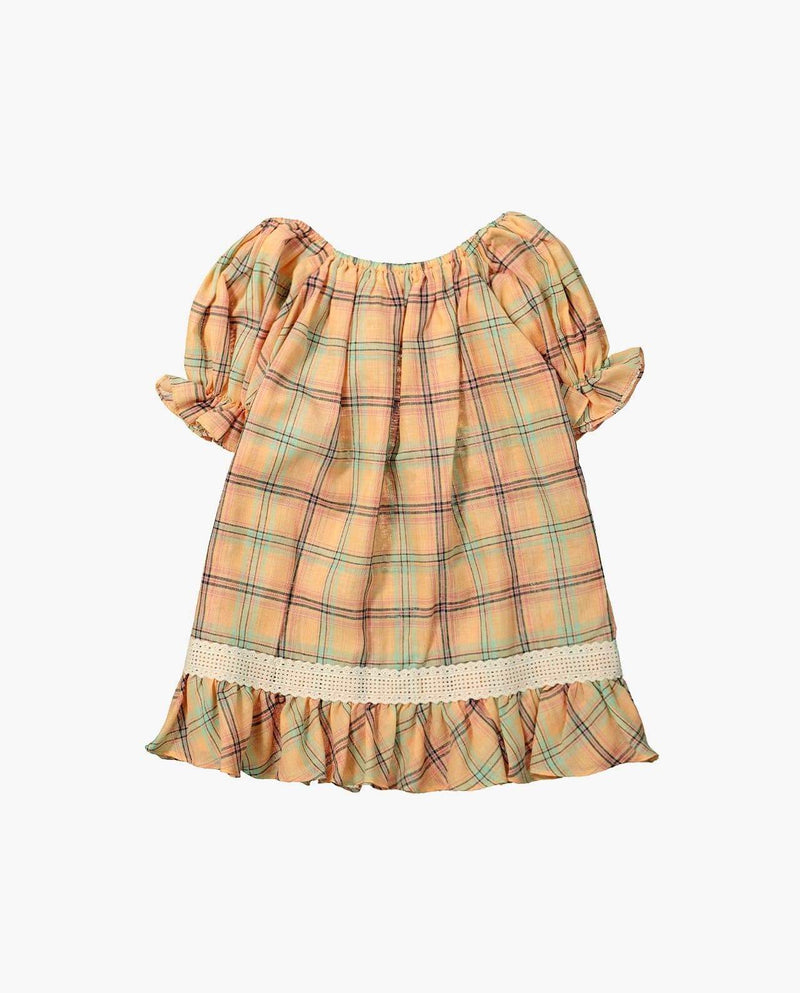 [Out of Stock] Plaid and Ruffles Dress