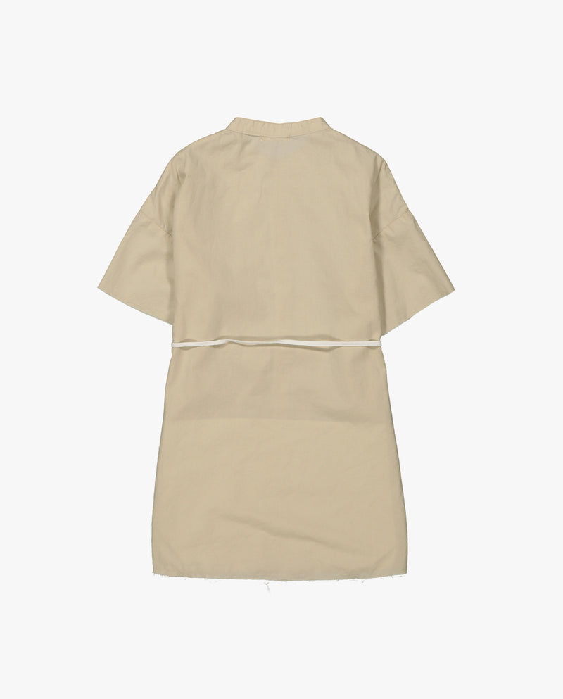 [Out of Stock] Band Collar Midi Dress