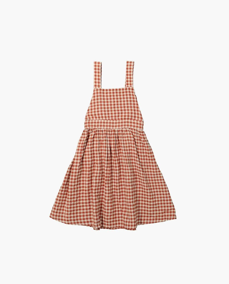 [Out of Stock] Square Neck Picnic Plaid Dress