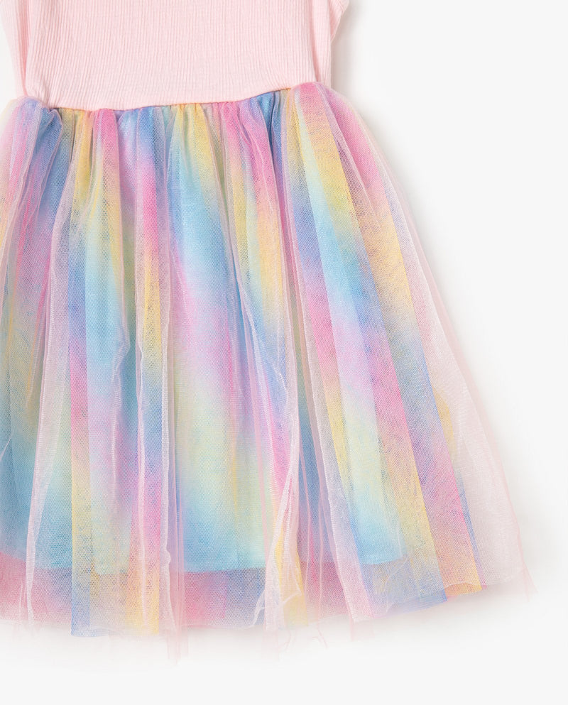 [Out of Stock] Rainbow Sorbet Twirl Dress