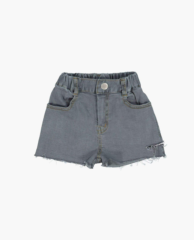 [Out of Stock] High Rise Button Cut Off Denim Shorts