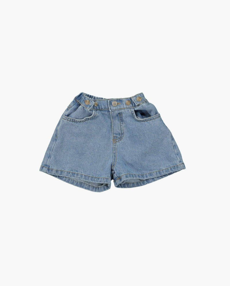 [Out of Stock] High-waist Vintage Denim Shorts