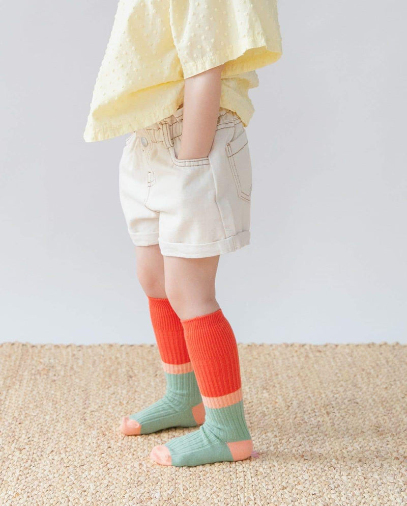 [Out of Stock] [SET-3PAIRS] Multi-Stripe Knee Socks
