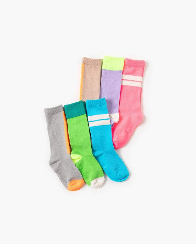 [Out of Stock] [SET-3PAIRS] Neon Mix-and-Match Socks