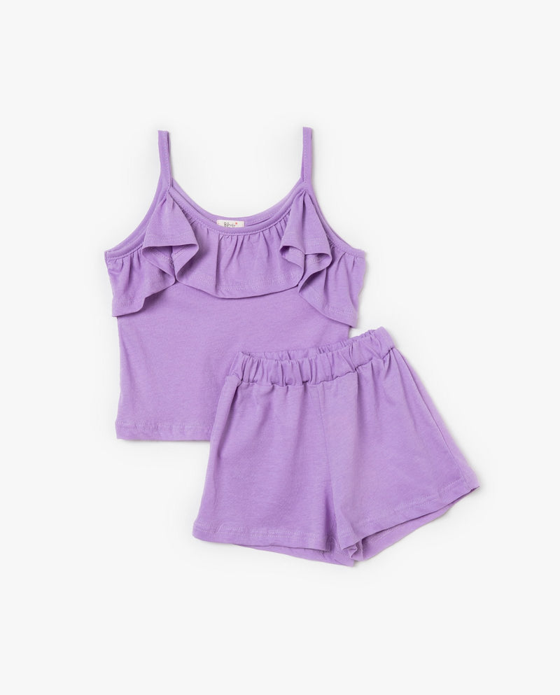 [Out of Stock] [SET] Frilly Top and Shorts Set