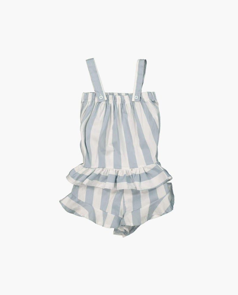 [Out of Stock] [SET] Sleeveless Stripe Ruffle Two-piece