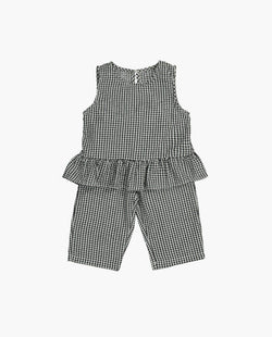 [Out of Stock] Sleeveless Plaid Two-piece Set