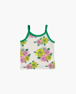 [Out of Stock] Rose Print Spaghetti Strap Top