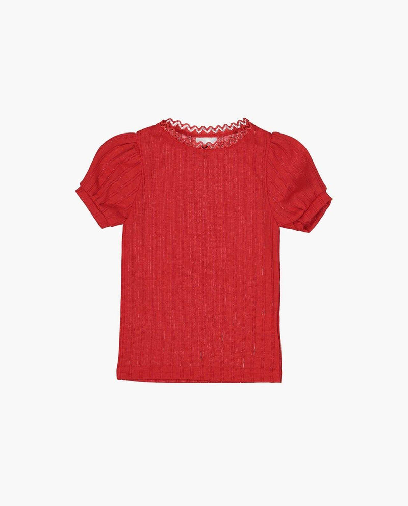 [Out of Stock] Textured Puff Sleeve T-Shirt