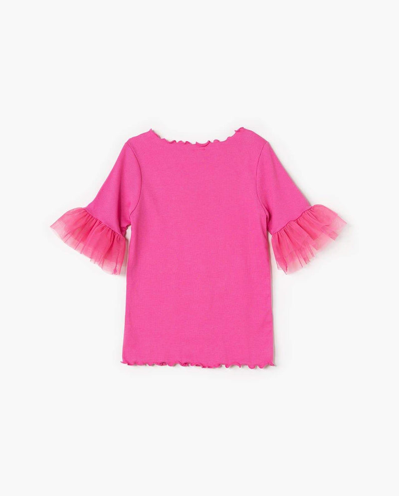 [Out of Stock] Lace Sleeve T-Shirt