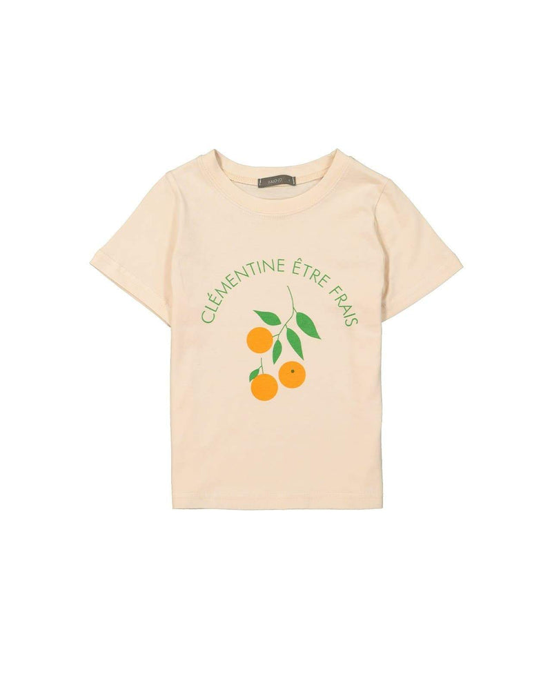 [Out of Stock] Orange Print Cotton T-Shirt