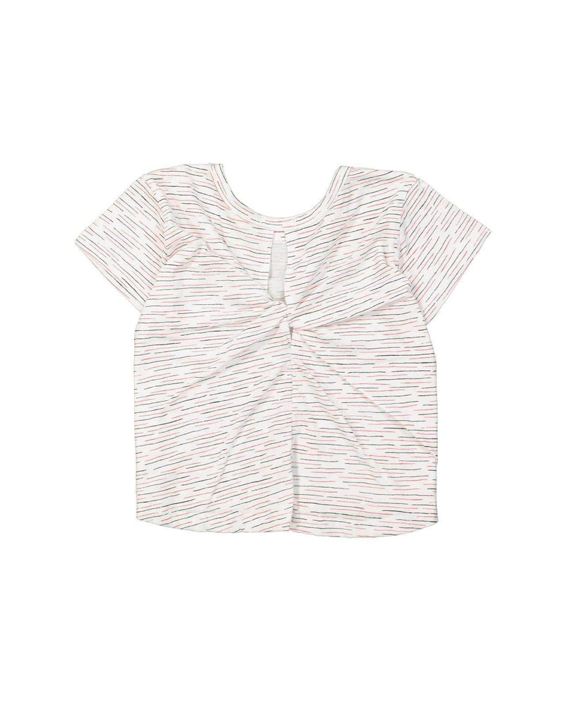 [Out of Stock] Cotton Linen Blend Twisted T-Shirt