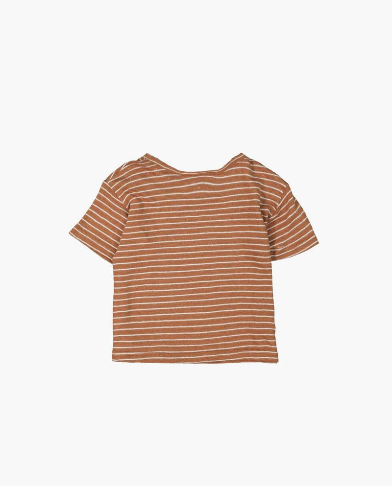 [Out of Stock] Linen Striped T-Shirt