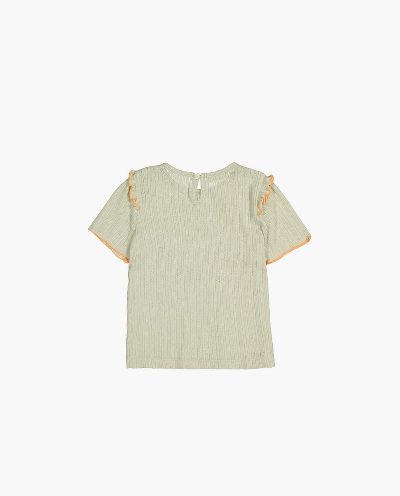 [Out of Stock] Ruffle Square T-Shirt