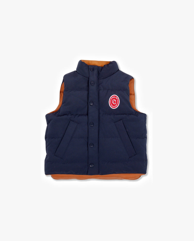 Reversible Duck Down Vest on MooMooz