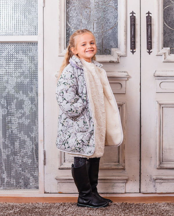 Reversible Quilted Coat on MooMooz