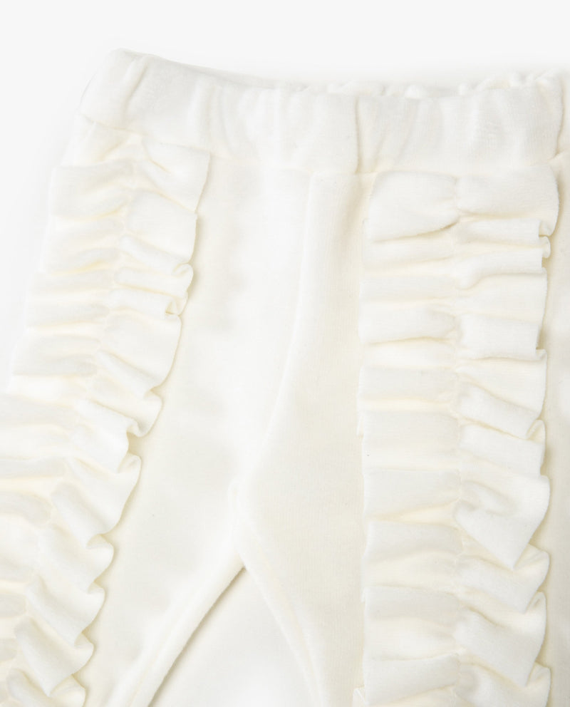 [Out of Stock] [SET] Soft Ruffled T-Shirt and Pants