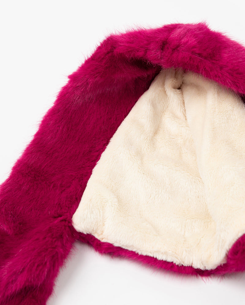 [Out of Stock] Faux Fur Hooded Muffler