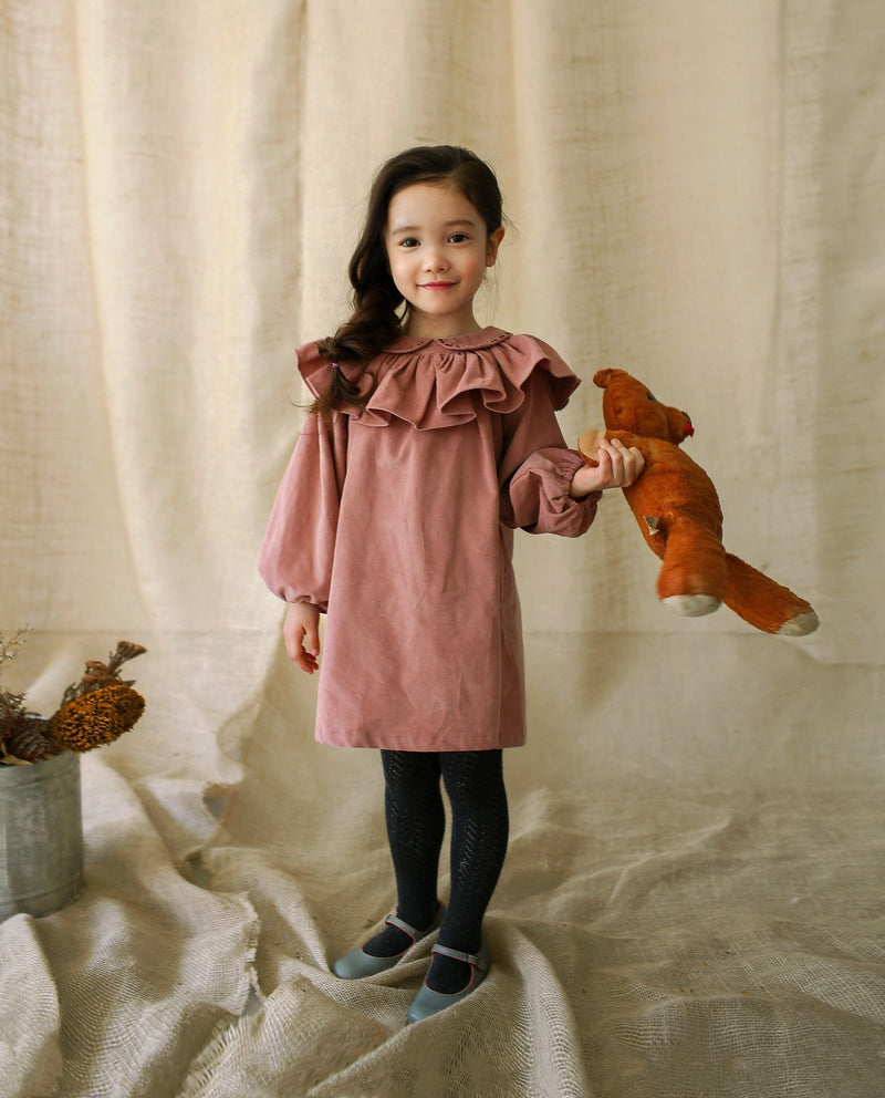 [Out of Stock]Romantic Corduroy Dress