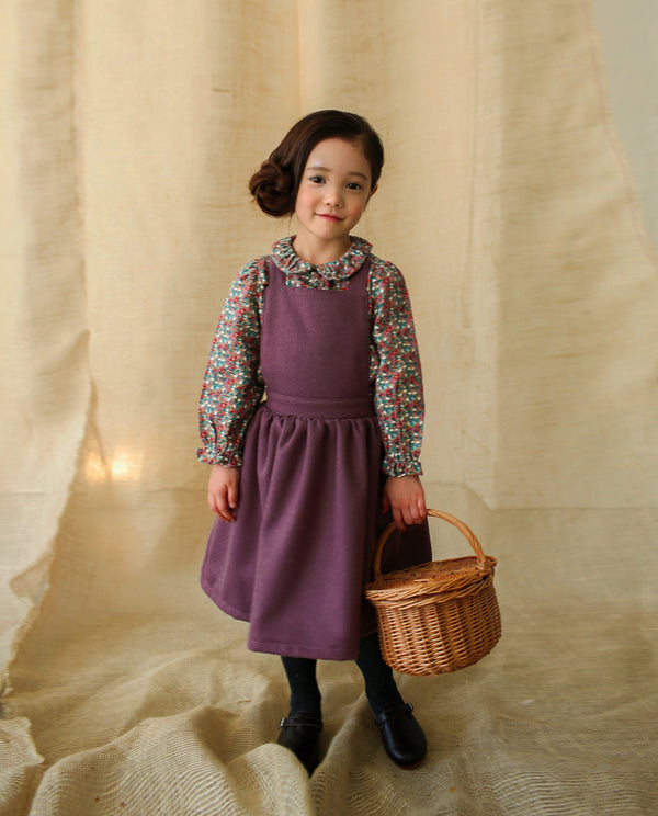 Lovely Fleece Overall Dress
