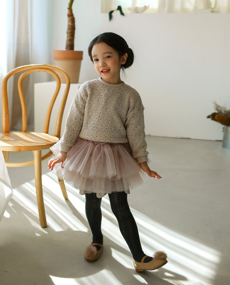 [Out of Stock] [SET] Snow Princess Knitted Top and Tutu Skirt