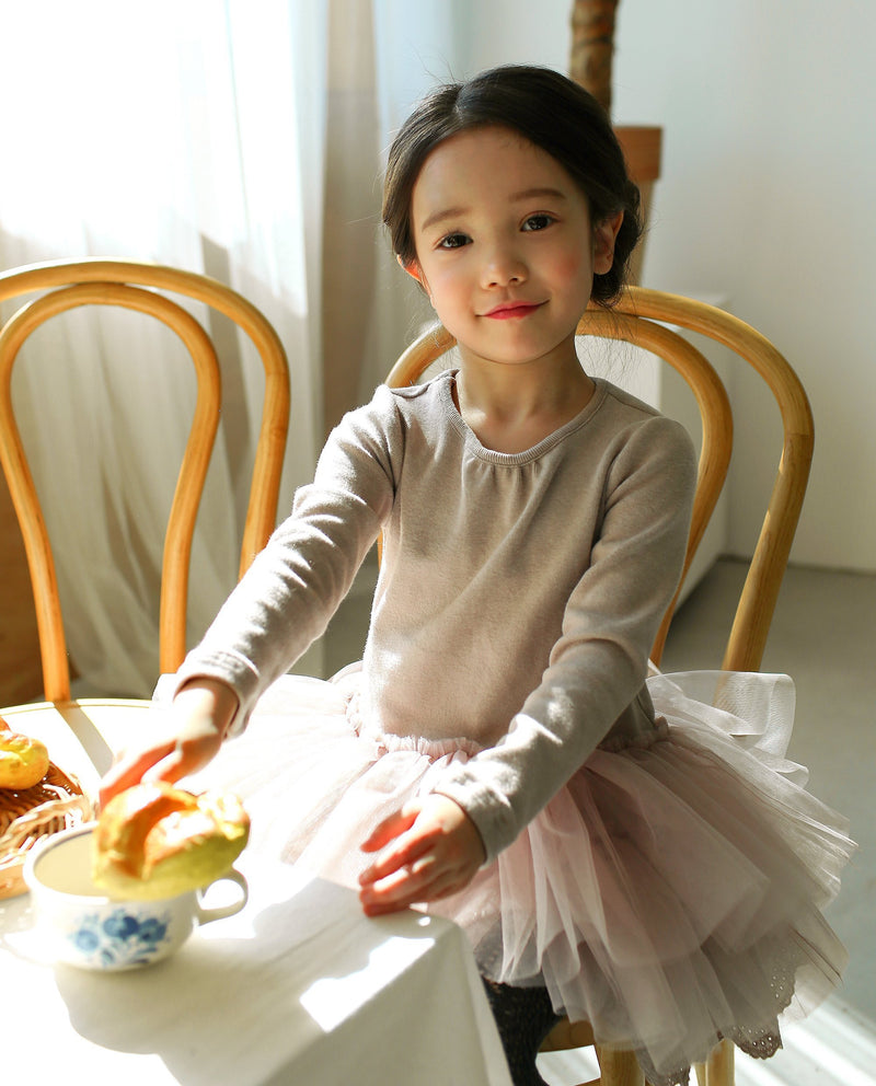 [SET] Snow Princess Knitted Top and Tutu Skirt