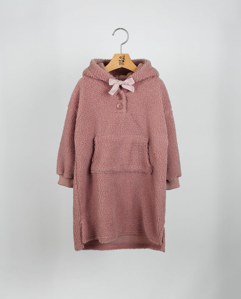 [Out of Stock] Hooded Fleece Maxi Dress