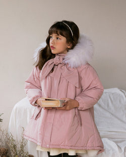 Twinkle A-Line Puffer Coat on MooMooz