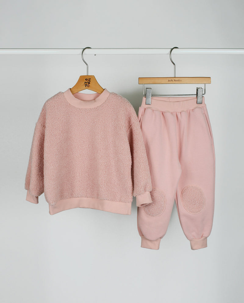 [SET] Fleece Sweatshirt and Pants Set on MooMooz