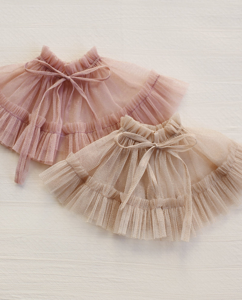 Golden Tulle Cape (Beige)