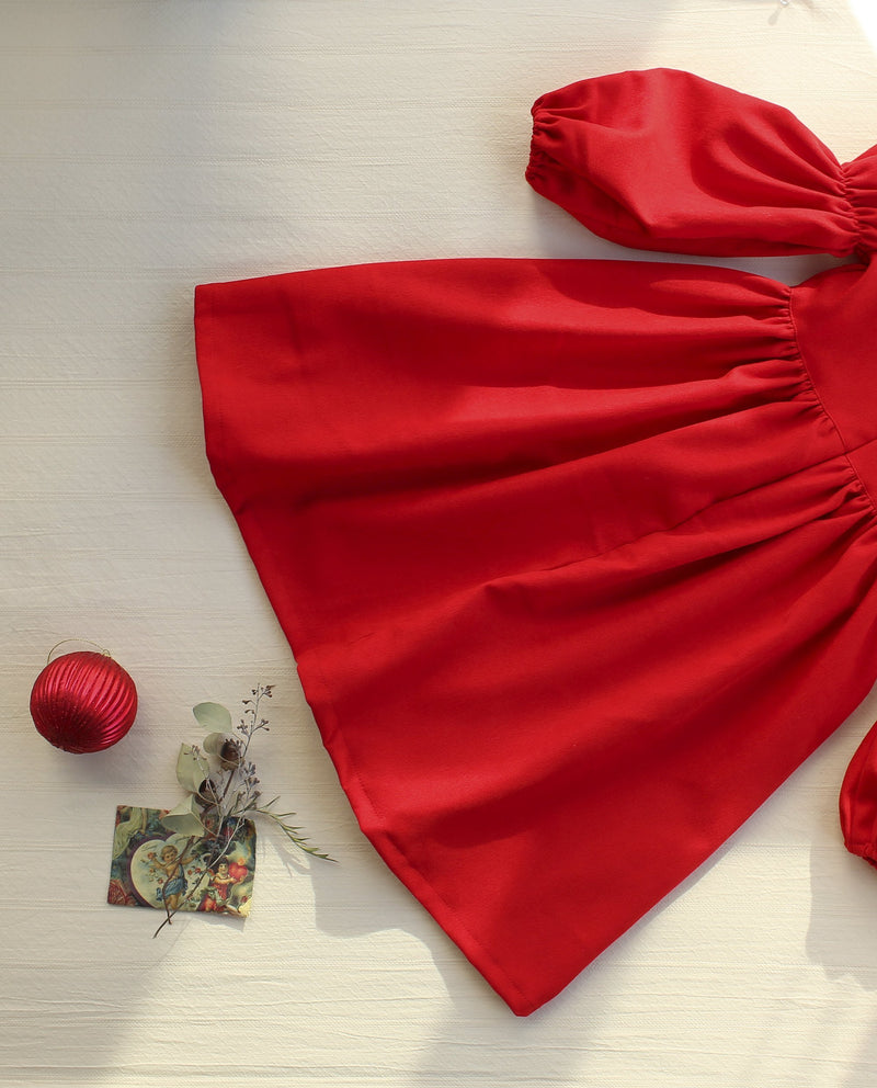 Happy Holiday Dress (Red)