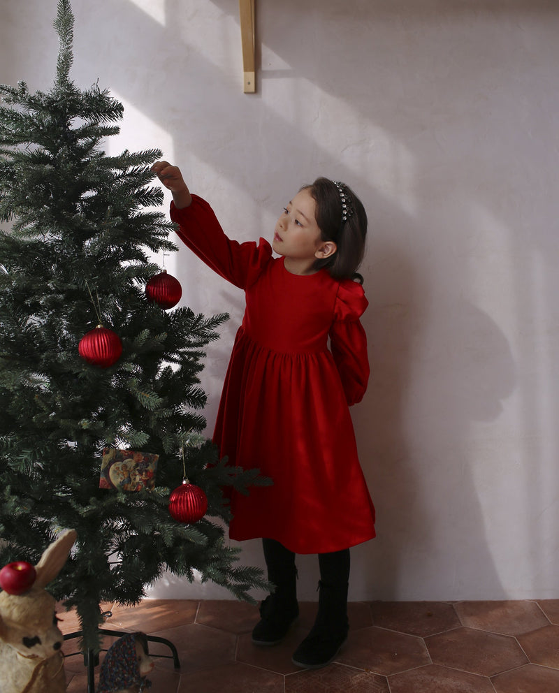Happy Holiday Dress (Red) on MooMooz