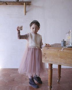 Ballerina Tulle Dress (Pink) on MooMooz