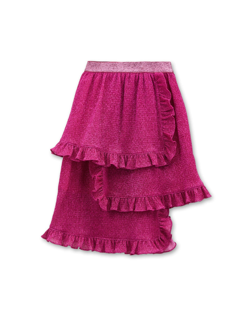 Triple Tiered Ruffle Skirt (Pink)
