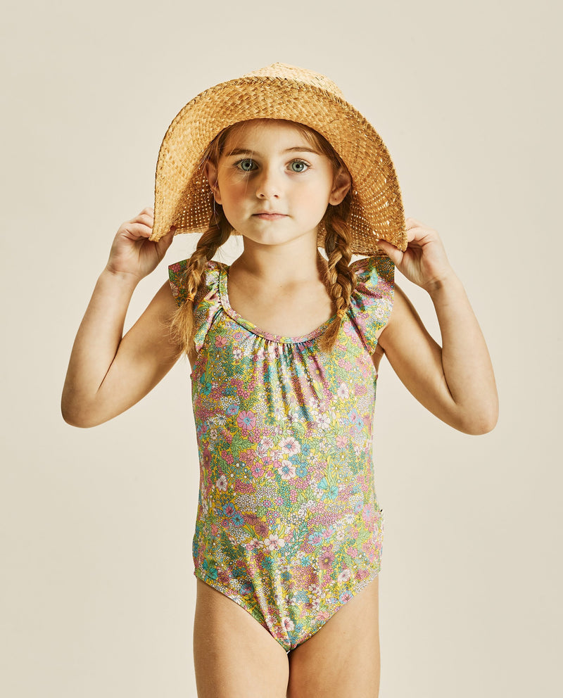 Wing Sleeve Swimsuit