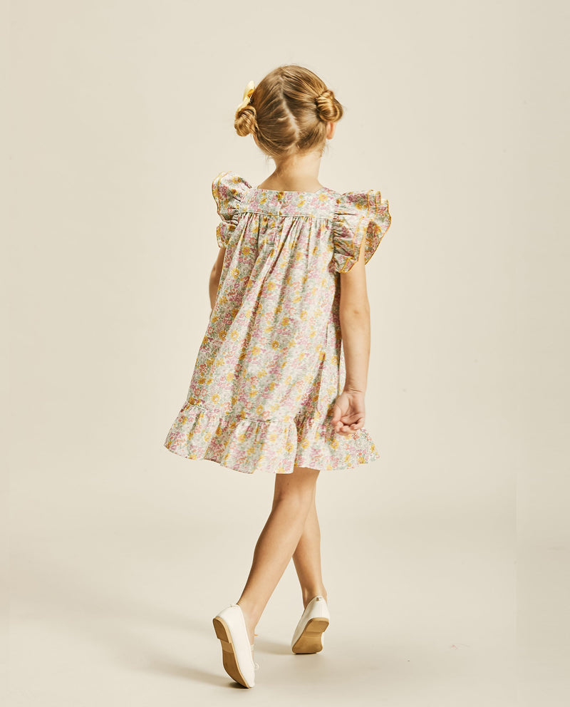 Square Neck Ruffled Dress