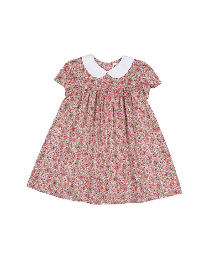 Round Collared Puff Sleeve Dress on MooMooz