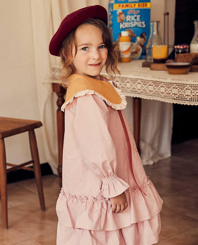 [Out of Stock] Single Button Trench Dress