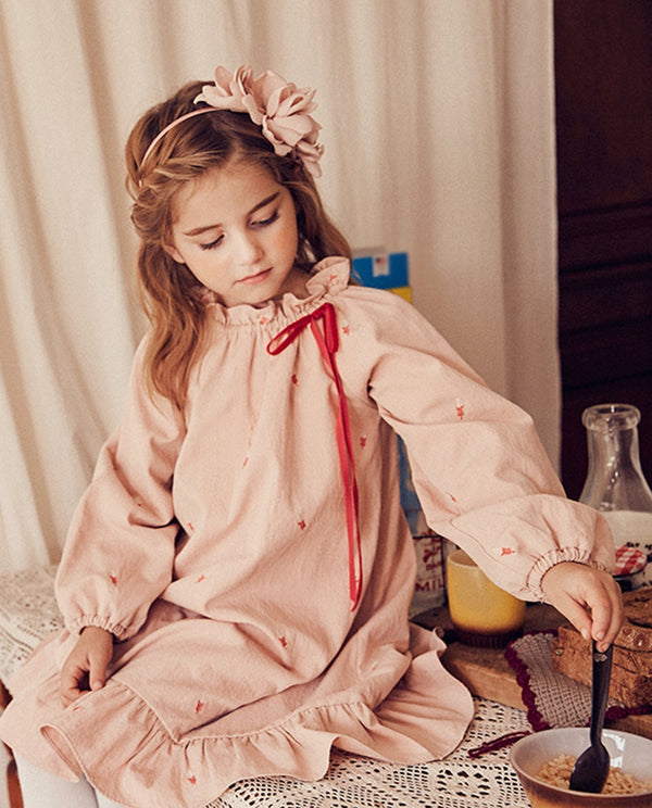 [Out of Stock] Leaf Embroidery Dress