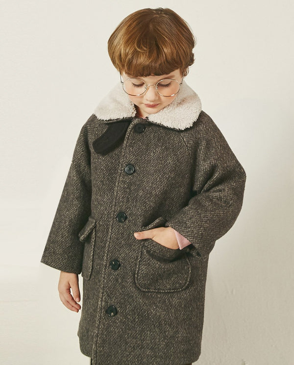 Wool Blend Quilted Coat on MooMooz
