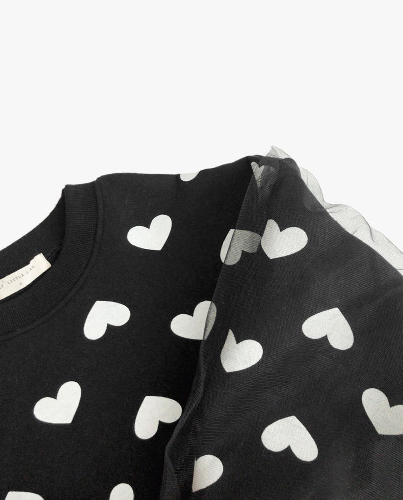 [Out of Stock] Tulle Patched Heart Sweatshirt