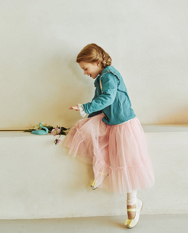 Tiered Tulle Skirted Leggings on MooMooz