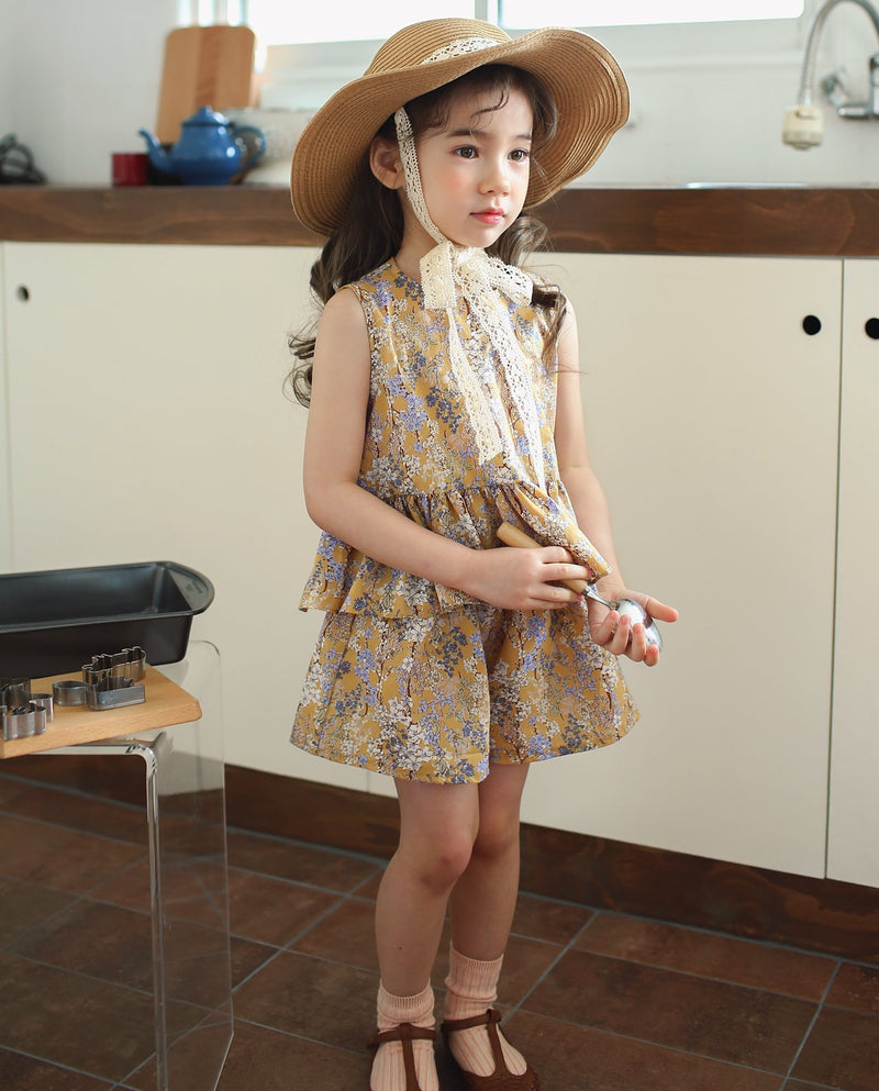 [Out of Stock] Peplum Floral Blouse