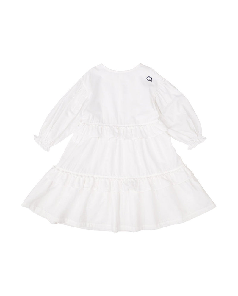 [Out of Stock] White Pom Pom Dress