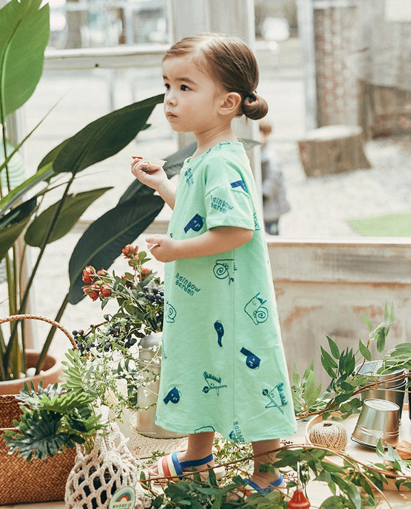Garden Family T-Shirt Dress