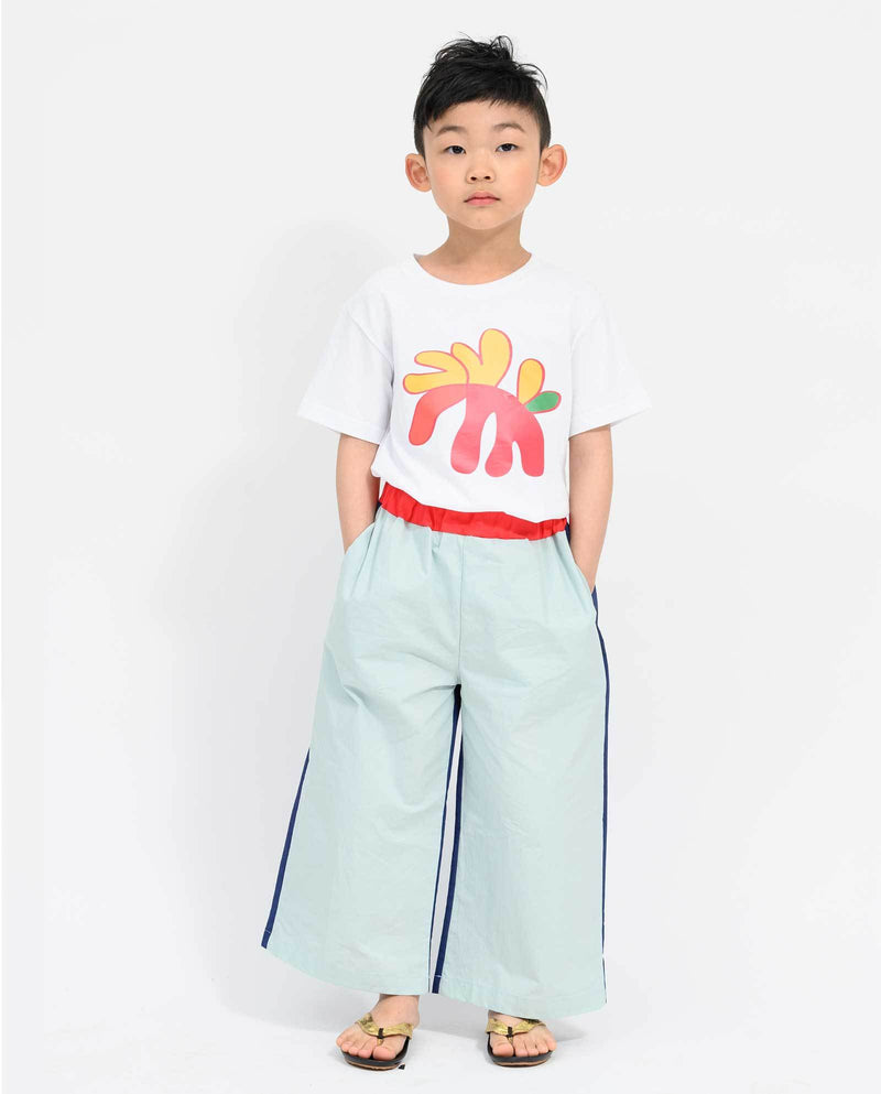 Color Patch Wide Pants on MooMooz