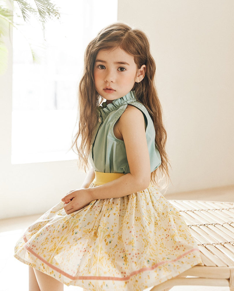 [Out of Stock] Yellow Wild Flower Skirt
